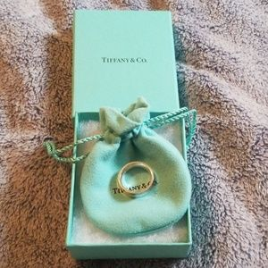 Tiffany sterling silver womens wide band ring